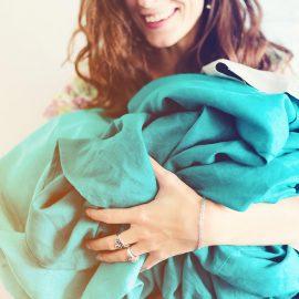 Chambray Fringe Quilt Cover – Blush